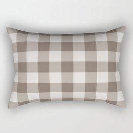 Buffalo Check Beige Cream Ivory Gingham Rectangular Pillow