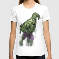 hulk T-shirts featuring Hulk  by Isaak_Rodriguez