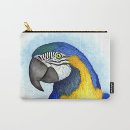 Vibrant watercolor parrot Carry-All Pouch