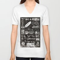 cycling V-neck T-shirts featuring Re. Cycling by NOT MY TYPE