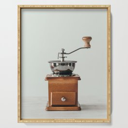 Wooden Coffee grinder Serving Tray