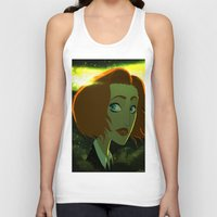 dana scully Tank Tops featuring Scully  by Annalisa Leoni