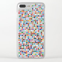 Colossal Polka Daubs Clear iPhone Case
