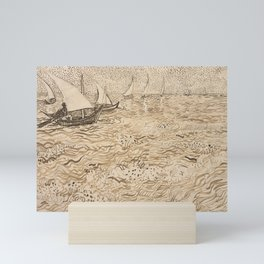 Boats at Saintes-Maries by Vincent van Gogh, 1888 Mini Art Print