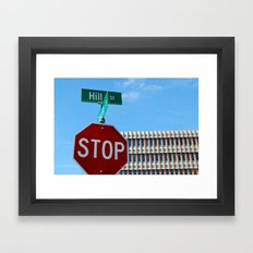 Hill St.     Ann Arbor, Michigan Framed Art Print