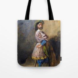 "Eugène Delacroix ""Gentleman of the time of François Ist"" Tote Bag"
