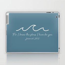 Jeremiah 29:11 Waves, White Laptop & iPad Skin