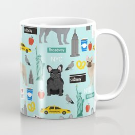 French Bulldog new york city tourist big apple dog breed pet friendly designs Coffee Mug