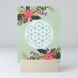 Sacred Geometry 2, Flower of Life Mini Art Print