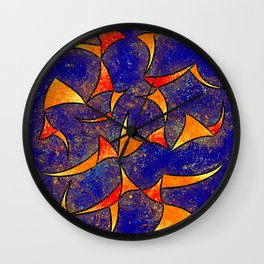 Delissianum V1 - dancing fire Wall Clock