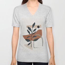 Abstract Shapes 35 Unisex V-Neck