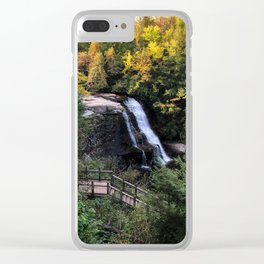 Fall Waterfalls Clear iPhone Case