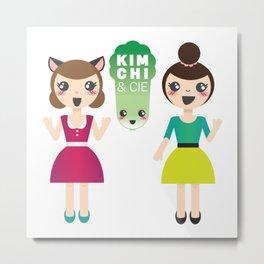 Alexandra et Kim! Metal Print