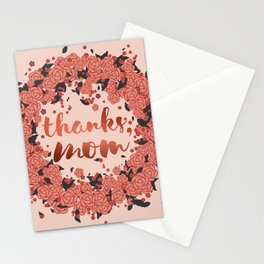 Thanks mom, in the autumn of life Stationery Cards