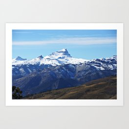 Uncompahgre Peak First Snow Art Print