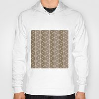 grid Hoodies featuring Grid Brown by BlueLela