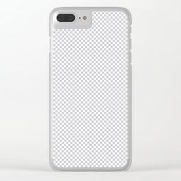 Quiet Soft Gray and White Mini Check 2018 Color Trends Clear iPhone Case