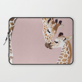 Giraffe mother and baby Laptop Sleeve