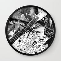 records Wall Clocks featuring Records by Emily Morris