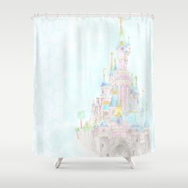 Castle of Sleeping beauty Shower Curtain