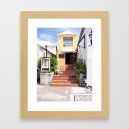 Cafe In Bermuda Framed Art Print