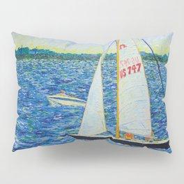 Boats on Boston Harbor Pillow Sham