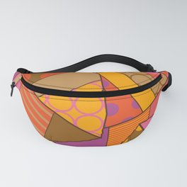 Graphic Leaf Patchwork (Fall Bold Colors) Fanny Pack