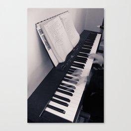 Piano, Solo Canvas Print