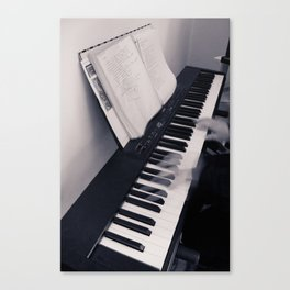 Piano, Solo Canvas Print