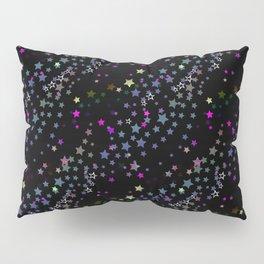 Magic Stars, Stardust, Midnight Black Pillow Sham