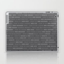 Grey Web Design Keywords Laptop & iPad Skin