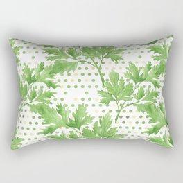 Parsley on Green Yellow Dots Rectangular Pillow