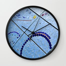 Abstract Baltimore Mirror Mosaic Wall Clock