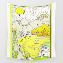 Lemon paradise Wall Tapestry