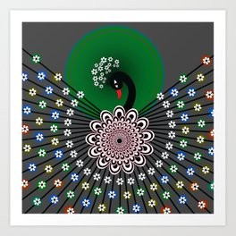 Peacock 5 Art Print