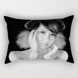 black and white 2 Rectangular Pillow