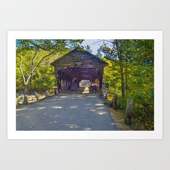New Hampshire covered bridge Art Print