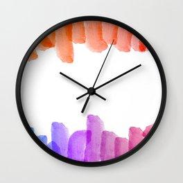 Rainbow Watercolor (Color) Wall Clock