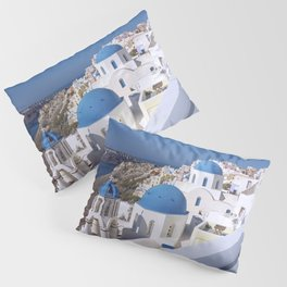 Oia Village in Santorini Pillow Sham