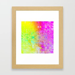 BATHROOM STRUCTURE GRADIENT Framed Art Print