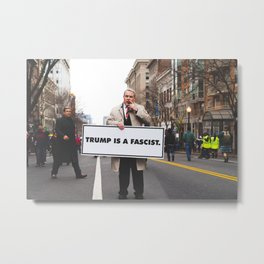 Protesting with Class Metal Print