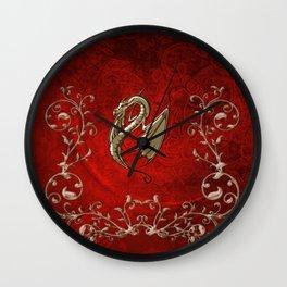 Wonderful decorative dragon Wall Clock