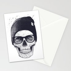 Grey Skull in a hat Stationery Cards