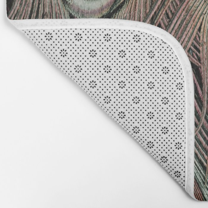 Peacock feathers abstract Bath Mat