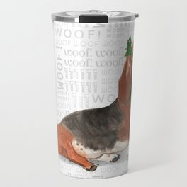 Basset Hound Christmas Travel Mug