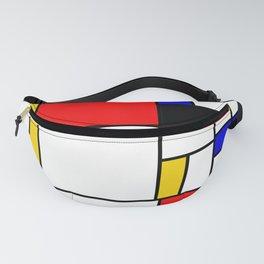 Bauhouse Composition Mondrian Style Fanny Pack