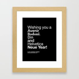 Happy Helvetica Neue Year 2014 Framed Art Print