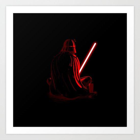 Master Vader Art Print