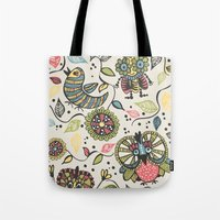 woodland Tote Bags featuring Woodland by Sarah Doherty