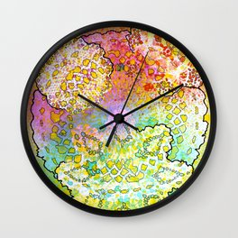 Stain 9 Wall Clock